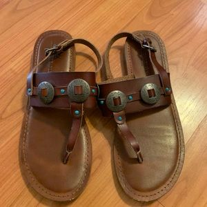 American eagle in sandal Concho turquoise size 8